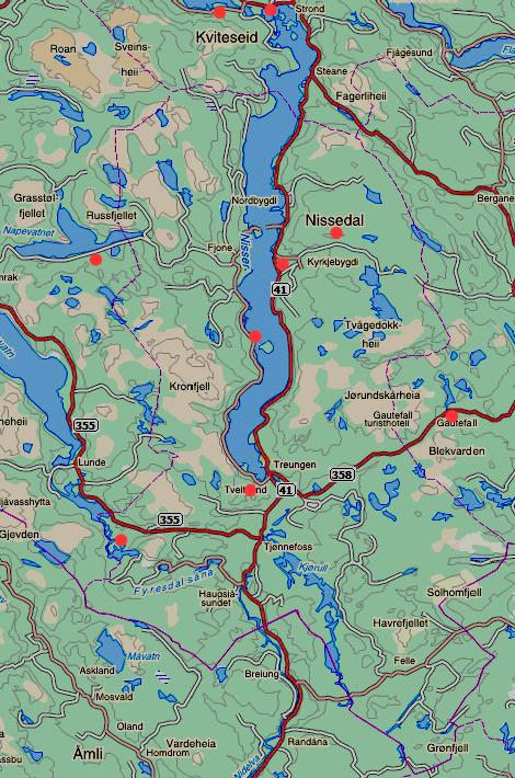 kart nissedal Tre Nisser Steinverksted   Severdigheter kart nissedal